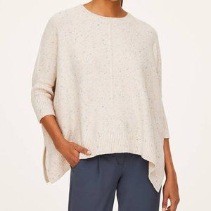 LOFT Outlet Flecked Poncho Sweater - L